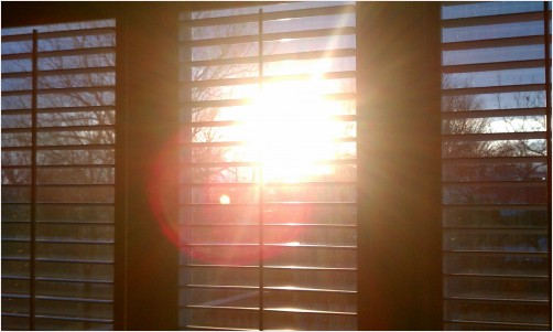 Sunshine thru the window