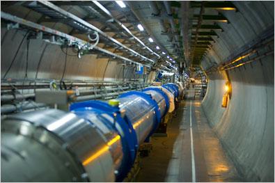 The collider is between 50 to 175 metres underground